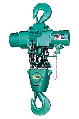 JDN Profi 100 Ti air hoist, part a series of hoists offering lift capacities from 250kg up to 100 tonnes