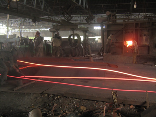 The steel re-rolling unit at Bhavnagar
