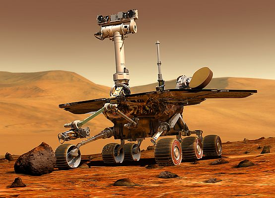 Mars Rover fitted with 39 maxon motors