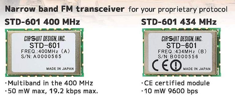 Narrow Band FM Transceiver STD-601 400 MHz and 434 MHz