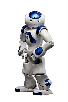 Nao, Romeo's smaller brother. His shoulders are equipped with maxon DCX motors.  Image © Aldebaran