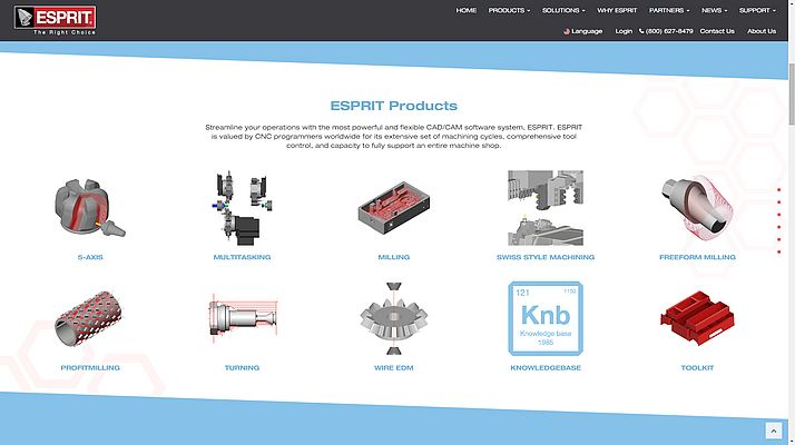 Innovative New Website Unveiled by ESPRIT CAD/CAM Software