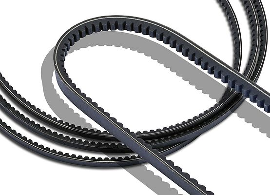 Raw-edged V-belts