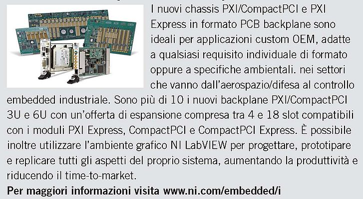 Chassis PXI/Compact PCI e PXI Express