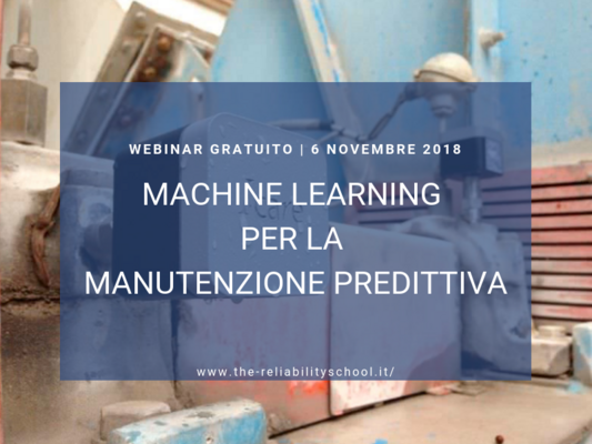 "Webinar I-care ""Machine Learning per la Manutenzione Predittiva"""