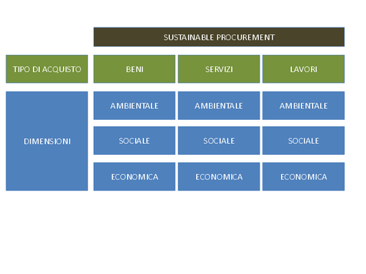 Figura 1 - Dimensioni del Sustainable Procurement