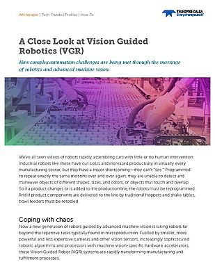 A Close Look at Vision Guided Robotics