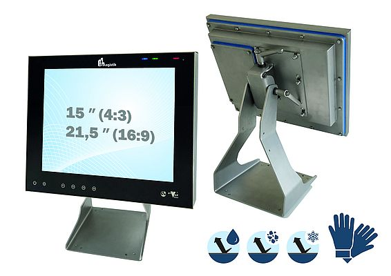 Versatile Stainless-Steel Touch PC
