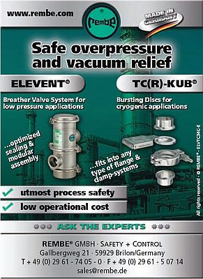 Safe overpressure and vacuum relief