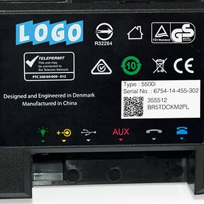 Flexible electronic and electric device labelling