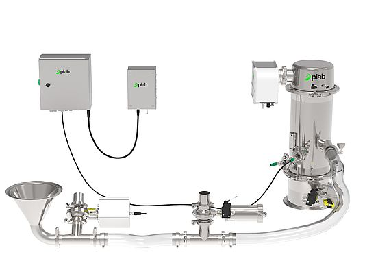 "piFLOW®p SMART – the ""Changeover Champion"" does not require manual process adjustment as this worlds-first is able to autotune the conveying process."