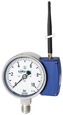 Pressure gauge with an integral LoRa module, type PGW23