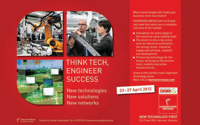 Hannover Messe, 23-27 april 2012