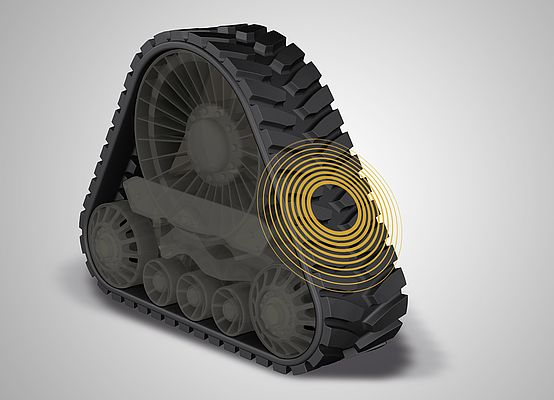 High-performance, durable and a leader in the industry: the Trackman XP rubber crawler track from Continental.