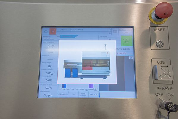 The touch-screen control panel offers constant feedback on operational elements