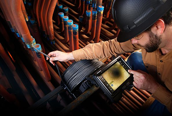 Efficient Video Inspection of Complex Piping Systems