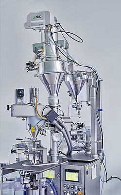 Easy to clean, the Piab Pi-Flow P Vacuum Conveyor is ready for filling-in another product