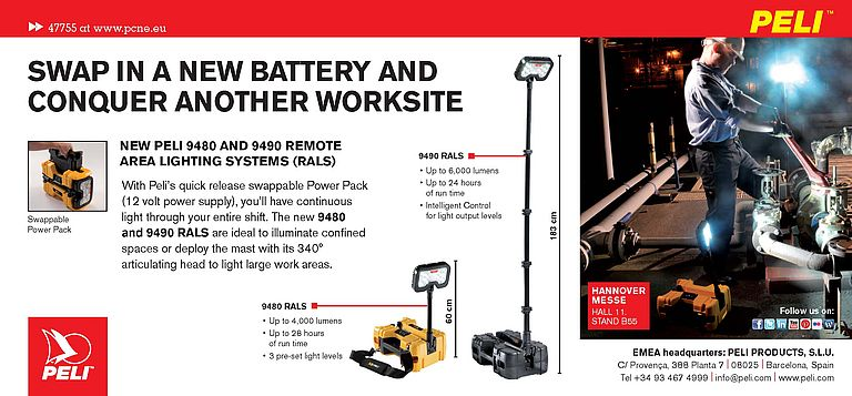 Remote area lighting systems Peli 9480 and 9490