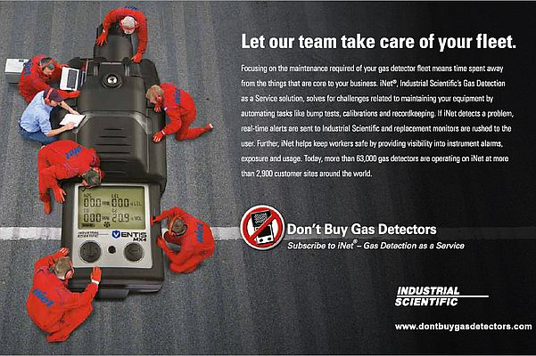 iNet, Ind'l scientific's gas detection as a service solution