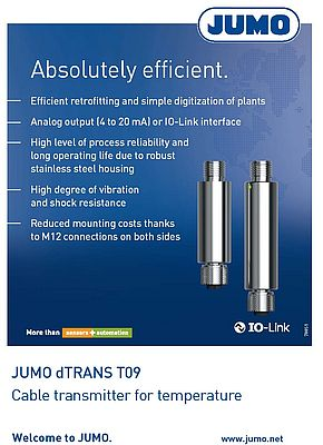 Absolutely Efficient. JUMO dTRANS T09 Cable transmitter for temperature.