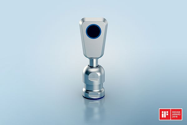 Stainless-steel pms sensor with SKINTOP® HYGIENIC cable gland.