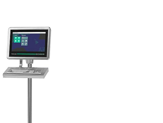 Figure 1: VisuNet GXP: The latest thin client-based remote monitor HMI generation for Zone 1 and 21 applications.