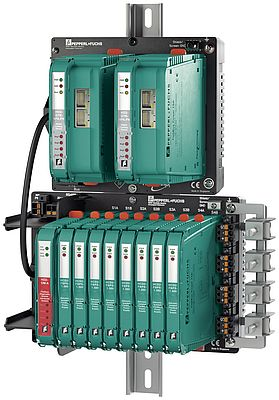 With S2 system redundancy: connection of PROFIBUS PA to PROFINET