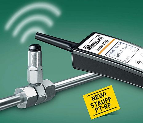 Wireless RFlD Pressure Transmitter and Reader PT-RF Series