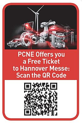 PCNE Offers You a Free Ticket to Hannover Messe: Scan the QR-Code.