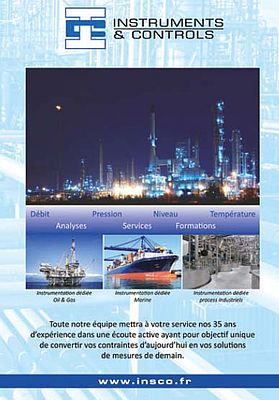 Instrumentation Industrielle Oil & Gas et Maritime