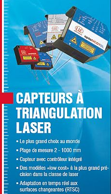 Capteurs à triangulation laser, adaptation en temps réel aux surfaces changeantes (RTSC)