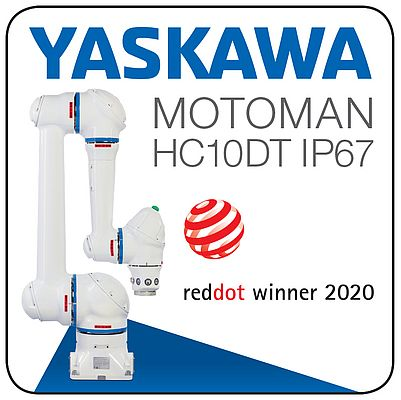 Le robot Motoman HC10DT IP67 remporte le prix RED DOT